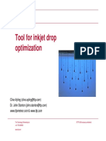 Tool for Inkjet Drop Op Tim Ization