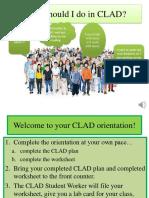 CLAD Orientation, Fall 2017
