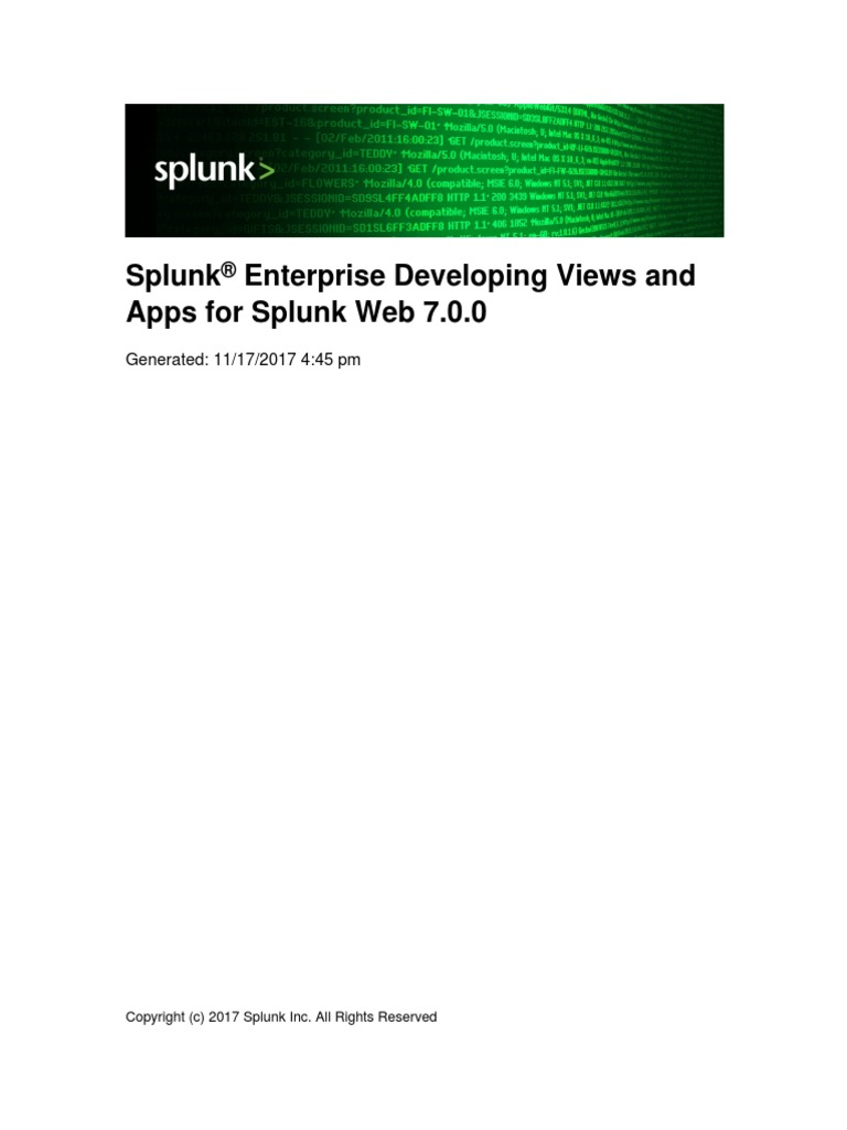 Splunk-7 0 0-AdvancedDev - Developing Views and Apps for