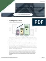 Scaling Parse Server Platform