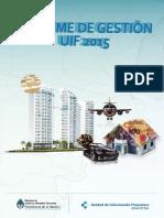 Informe Anual de Gestión 2015 - UIF Argentina