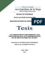 Maestría en Derecho Administrativo Castillo Rodríguez Eduardo - Tesis