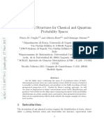 Geometrical Structures for Classical and Quantum Probability Spaces