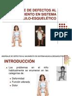 11. Abordaje de Defectos Al Nacimiento en Sistema Musculoesquelético