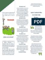 folleto Discriminacion