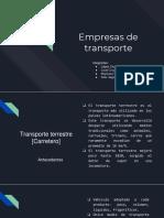 Empresas de Transporte. Transporte e Ing. de Transito