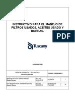 HSEQ-In-015 Instructivos Para El Manejo de Filtros Usados, Aceite Usado y Borras v 1