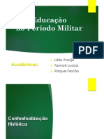 Ditadura Militar versão diferenciada