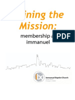 Joining the Mission - Membership at Immanuel