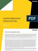 InvestorPresentation FTT Nov 27, 2017 FINAL