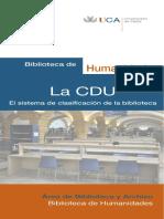 CDU VER APUNTE El Sistema de Clasificacion de La Biblioteca