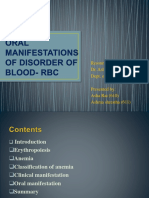 Oral Manifestation Of Blood Disorder- RBC