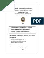 Procedimientos Analiticos de La Auditoria