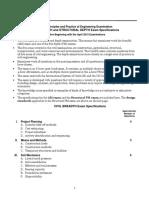 PE Civil Engineering - Structural Exam Specs