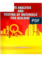6). Rate Analysis and Testing of Materials for Building