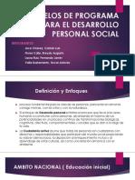 Modelos de Programa Para El Desarrollo Personal Social
