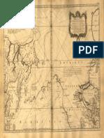 Mapa reducido del océano septentrional entre Asia y América