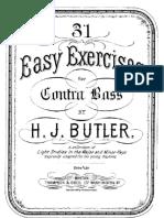 31 Easy Exercises for Contra Bass (Butler, Herbert J.)