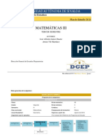 Matematicas III 2015(Programa)