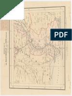 Mapa esquemático de la frontera entre Beluchistán y Sind