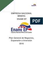Plan de Negocios Enami Ep 2016