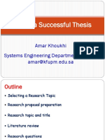 Tips for Successful Thesis