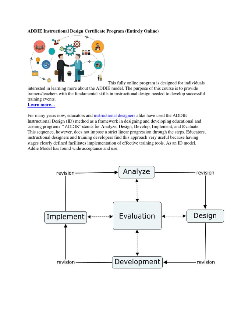 Instructional Design With Addie Method Coursework Academic Service