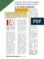 CORROSIÓN Y EL MEDIO AMBIENTE