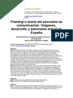 Framing o Teoría Del Encuadre en Comunicación