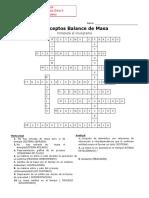 .Crucigrama Conceptos Balance de Masa