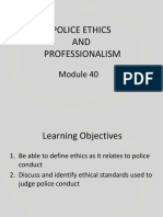 Police Ethics and Professionalism