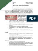 Caracteristicas de La Denticion Temporal