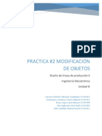 Practica 2. Modificacion de Objetos