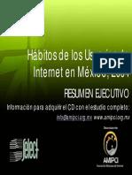 2004 Habitos de Usuarios de Internet Mx