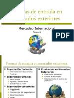 Estrategias de Entrada Al Mercado Internacional