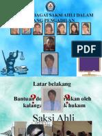 Dokter Sebagai Saksi Ahli Di Pengadilan