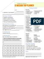 1 Page Mission Trip Planner