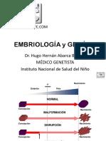 Clase Embriología y Genética