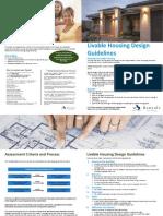 Liveable Housing Guidelines Design Assessment Attachment 1