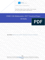 Maths 2017 Unsolved Paper All India