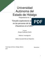 """""""Estudio exploratorio del estrés en las personas de la colonia Chautenco en el 2017"""""""
