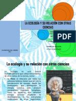 La Ecología y Su Relación Con Otras Ciencias
