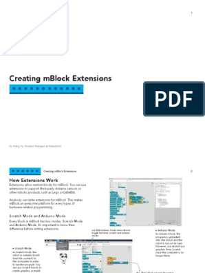 Mblock Extension Guide | Zip (File Format) | Scratch (Programming