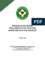 Program Pelatihan Staf Tentang Komunikasi Yang Efektif (PRINT)