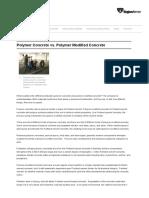 Polymer Concrete vs Pol. Modified Concrete