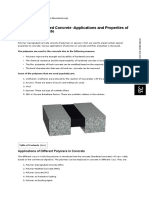 Polymer Impregnated Concrete -Uses, Properties of Polymers in Concrete