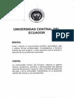 Mision y Vision Universidad Central Del Ecuador
