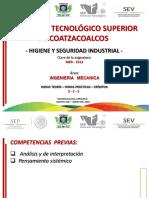 Higiene y Seguridad Industrial - Datos de La Asignatura (Rev.1)