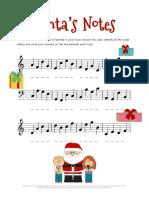 Christmas Music Worksheets Santa's Notes