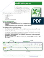 Excel for Beginners - Part I